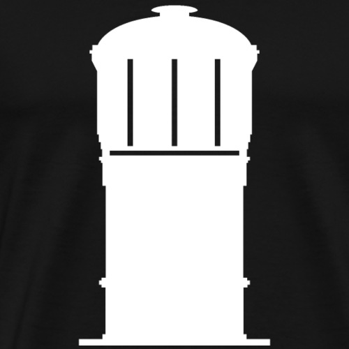 Watertoren wit - Mannen Premium T-shirt