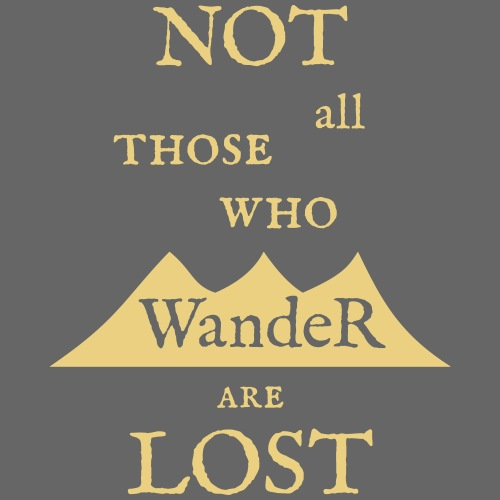 NOT all those who wander are LOST - Herre premium T-shirt