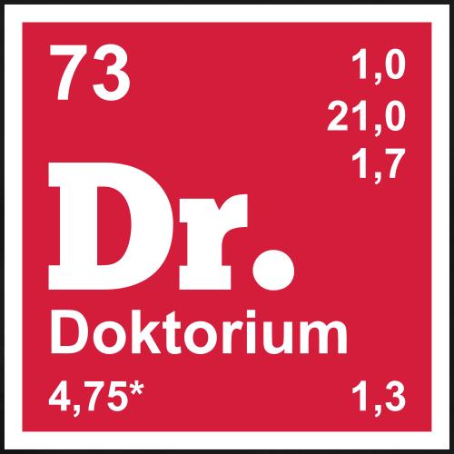 Doktor Geschenk Periodensystem - lustiges Design