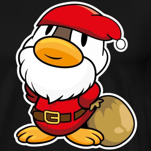Lustige kleine Ente als Weihnachtsmann - Männer Premium T-Shirt