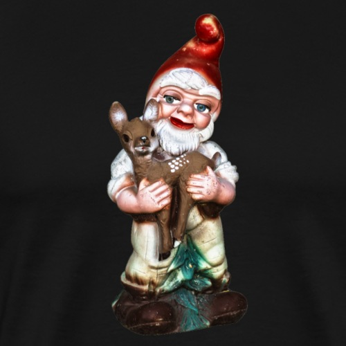 Gartenzwerg mit Rehkitz - Männer Premium T-Shirt