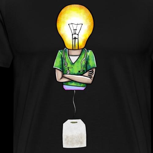 Lyspære-doktor-tepose - Premium T-skjorte for menn