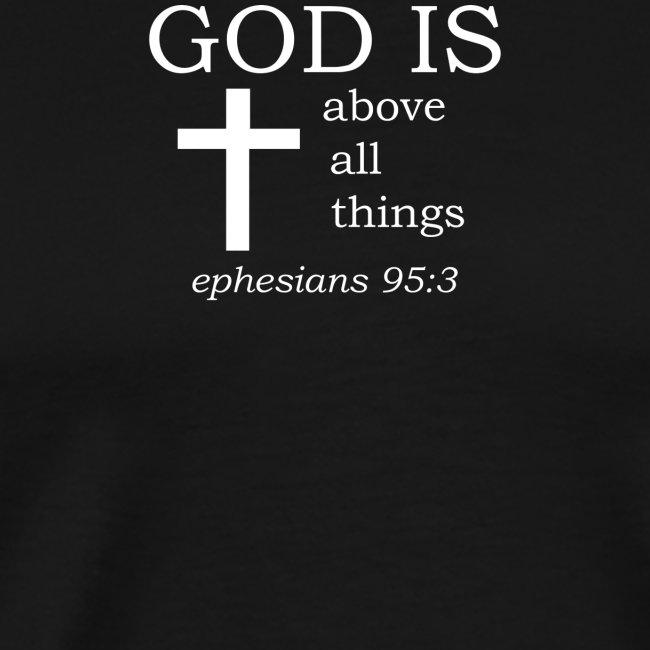 'GOD IS' t-shirt (white)