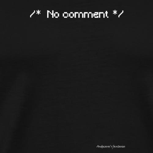 nocomment png - Maglietta Premium da uomo