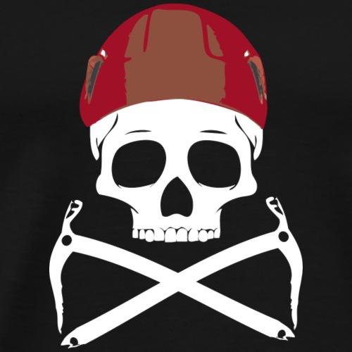 Climber Pirats skull white - Men's Premium T-Shirt