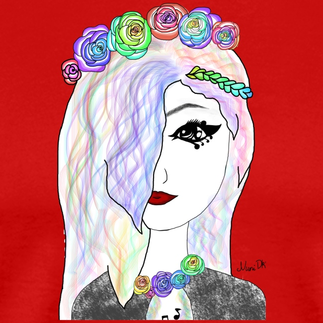 Rainbow flower girl - Female shirt