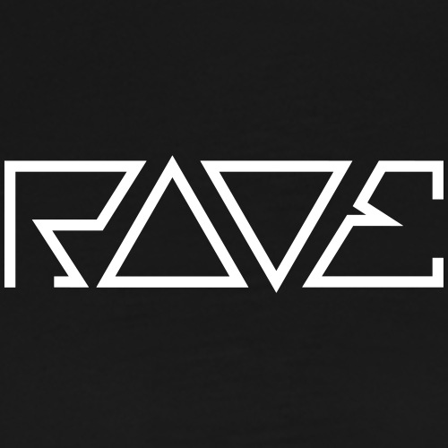 RAVE Dreiecke digital dark Text Minimal Schriftzug - Männer Premium T-Shirt