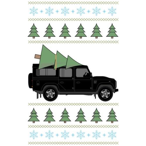 Defender 110 Black Christmas - Premium-T-shirt herr