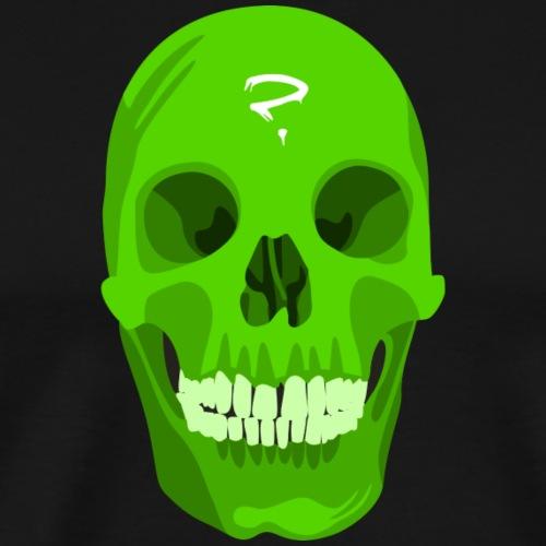 Grüner Totenkopf - Männer Premium T-Shirt