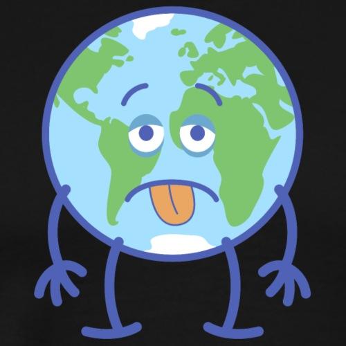 Poor Earth feeling exhausted - Men's Premium T-Shirt