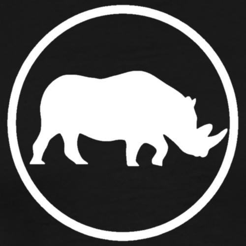 Rhino White 2 - T-shirt Premium Homme