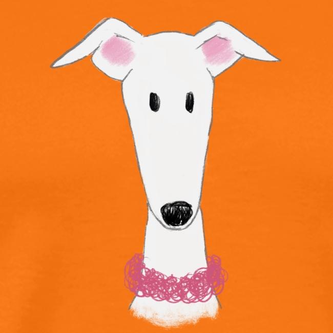 Windhund mit Halsband