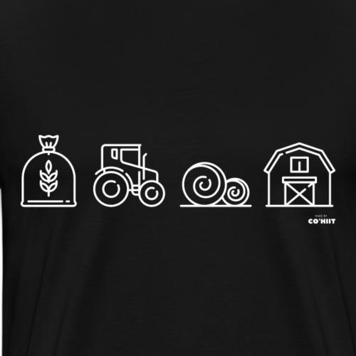 À la ferme (blanc) - T-shirt Premium Homme