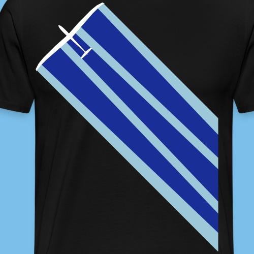 Segelflugzeug quer Segelflieger Wasser gleiten - Männer Premium T-Shirt