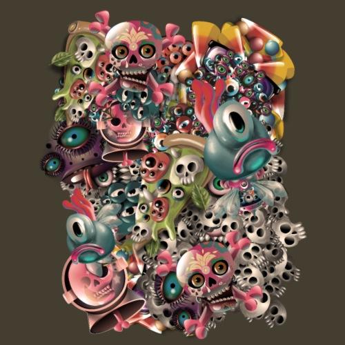 Mundo monstruoso - Camiseta premium hombre