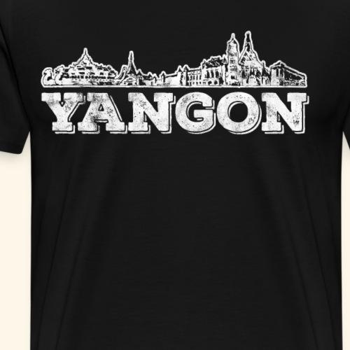 Yangon - Männer Premium T-Shirt