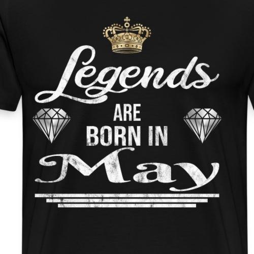 Legends are born in May Geburtstag im Mai - Männer Premium T-Shirt