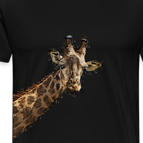 Giraffenkopf gemalter Kopf einer Giraffe - Männer Premium T-Shirt