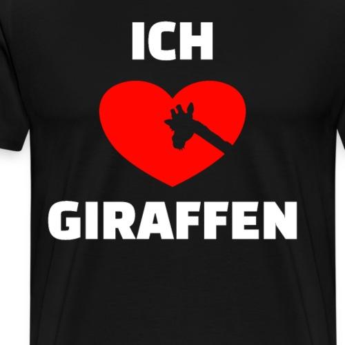 Giraffen Freunde Ich liebe Giraffen Geschenke - Männer Premium T-Shirt