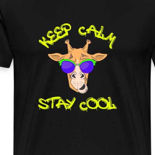 Keep calm stay cool giraffe mit Sonnenbrille - Männer Premium T-Shirt