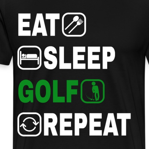 Golf Golfsport Geschenke eat sleep GOLF repeat