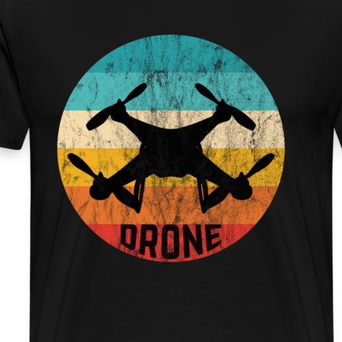 Retro Drohne Geschenke für Drohnenpiloten - Männer Premium T-Shirt