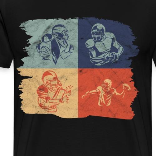 Retro Vintage American Football Spieler - Männer Premium T-Shirt