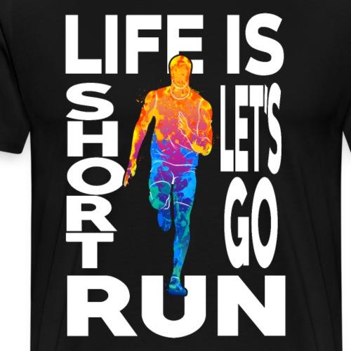 Laufsport Marathon Jogging Geschenkideen - Männer Premium T-Shirt