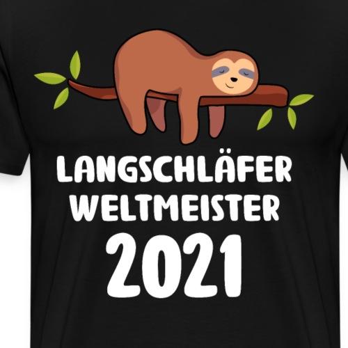 Faultier Spruch Schlafen Schlafshirt Geschenk - Männer Premium T-Shirt