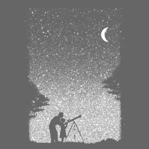 Astronomie Sternenhimmel Kunst Vater und Tochter - Men's Premium T-Shirt