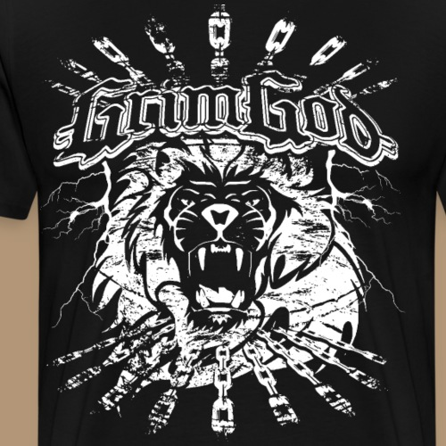 LionChains II Grimgod Logo - Männer Premium T-Shirt