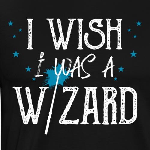 I Wish I Was A Wizard - White - Men's Premium T-Shirt