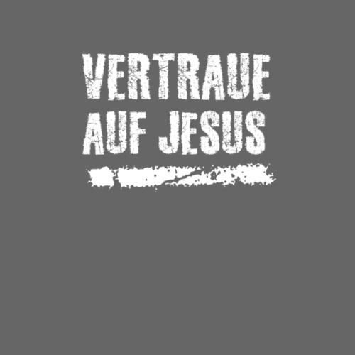 Vertraue auf Jesus - Männer Premium T-Shirt