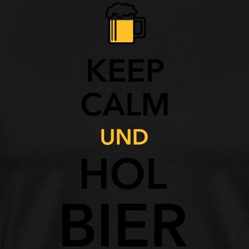 Keep calm und hol Bier Bierkasten Grillparty Wiesn - Men's Premium T-Shirt
