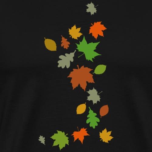 Herbstlaub maple leaf Ahorn Eiche Silhouette - Men's Premium T-Shirt