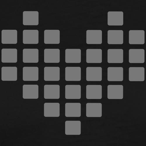 Digital Heart Herz Pixel Symbol PX love Liebe Icon - Männer Premium T-Shirt