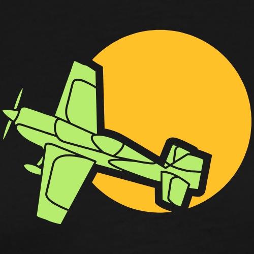 Sonne Sun Flugzeug Aircraft Plane Bomber Jäger War - Männer Premium T-Shirt