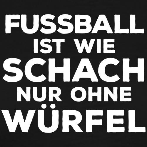Fußball Sportverein Schach Würfel König Spielkarte - Men's Premium T-Shirt
