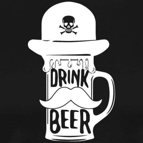 HYPSTER DRINK BEER - Maglietta Premium da uomo