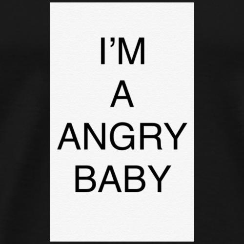 angry baby - Premium T-skjorte for menn