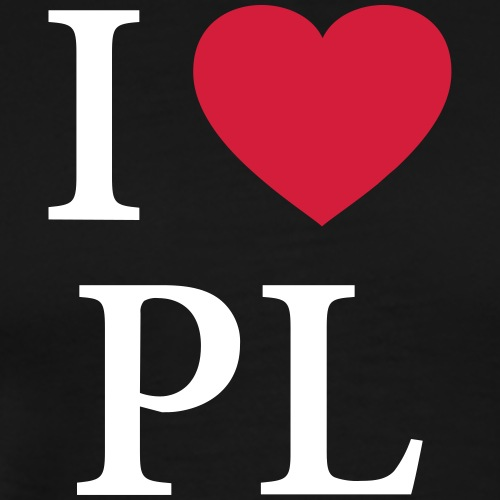 I HEART POLAND – LOVE - Männer Premium T-Shirt