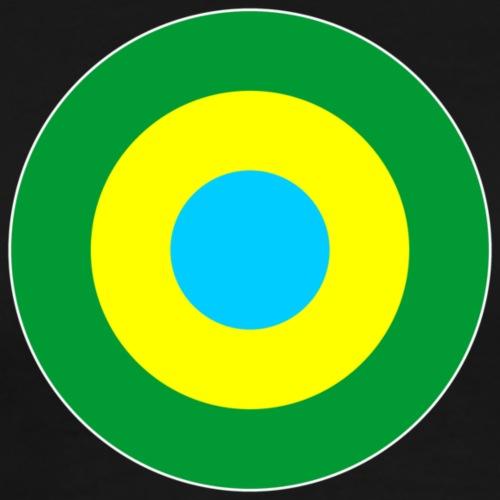 Brasilien Brazil South America Mod Target - Männer Premium T-Shirt