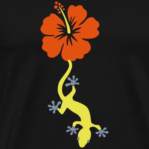 Lizard Hibiskus - Männer Premium T-Shirt