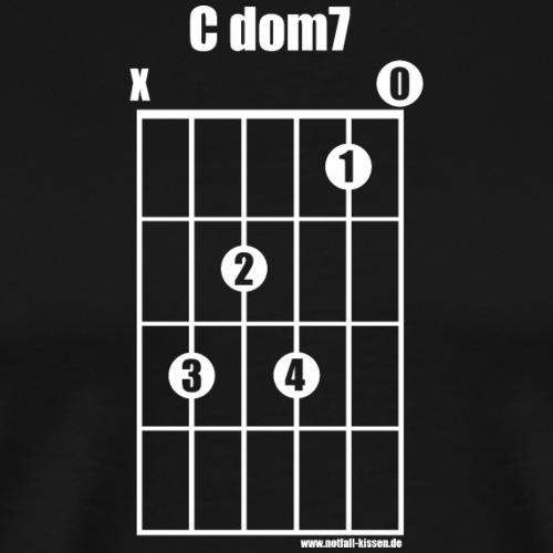 Gitarrenakkord C dom7 (white on black) - Männer Premium T-Shirt