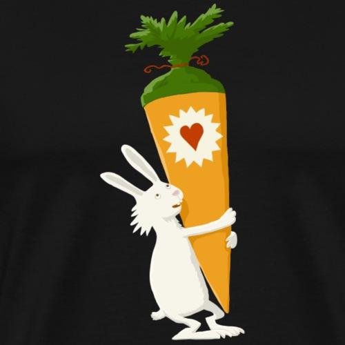 Hase mit Schultuete - Männer Premium T-Shirt