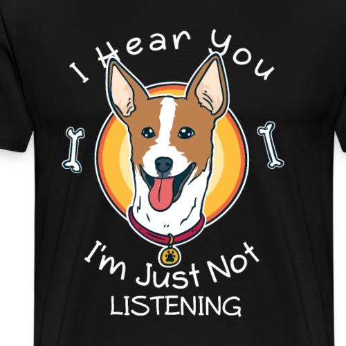 Frecher Rat Terrier Jack Russel Parson Geschenk - Männer Premium T-Shirt