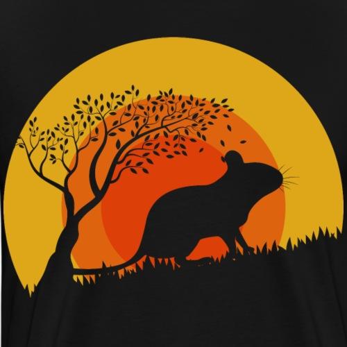 Degu Sunset | Geschenk für Deguhalter | DEGUS - Männer Premium T-Shirt