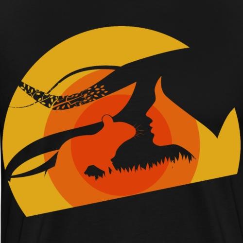 Degu Kuss | Süße Silhouette | Geschenk Deguhalter - Männer Premium T-Shirt