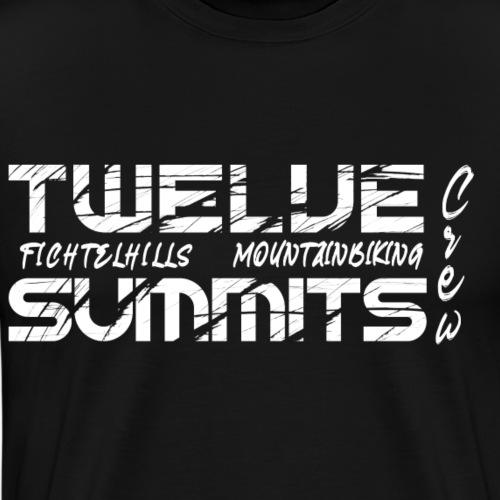 twelve summits fichtelgebirgef fahrradfahren - Männer Premium T-Shirt