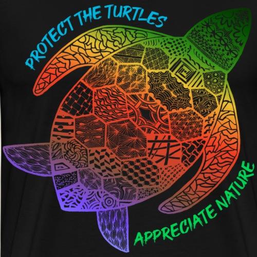 Schildkröte Protect the turtles Naturliebhaber - Männer Premium T-Shirt